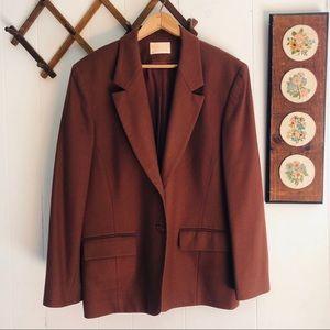 Pendleton • Virgin Wool Warm Brown Blazer